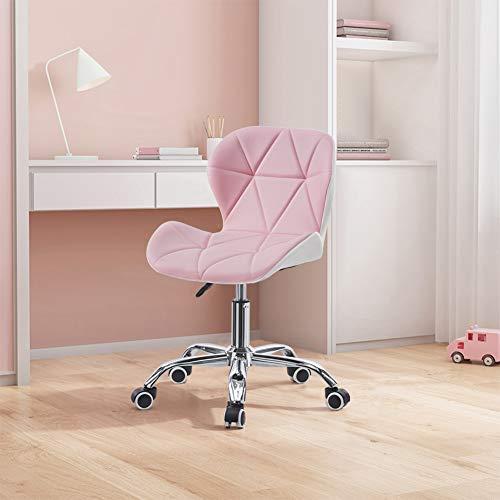 TUKAILAI 1 silla de escritorio ajustable color rosa y blanco a juego...