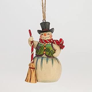 Enesco Jim Shore Heartwood Creek Snowman with Broom Mini Ornament