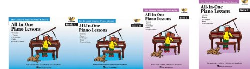Hal Leonard Student Piano Library, All-In-One Piano Lessons, 4 Book SET (Book A w/CD, Book B w/CD, Book C w/ CD, Book D w/CD)