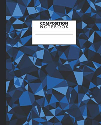 Composition Notebook: Wide Ruled Notebook and Journal - Blank Wide Lined Diary for Writing, Notes and Brilliant Ideas - Elegant 3D Geometric Design