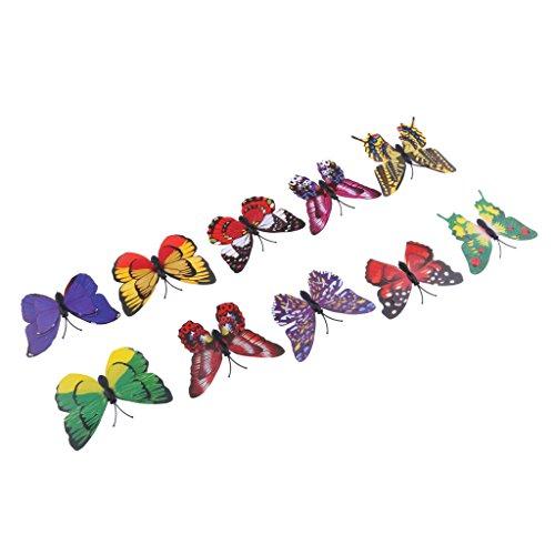 Baoblaze 10x Mariposa Etiqueta de Pared Forma Mariposa 3D Cortacésped Herramienta Eléctrica de Exterior - 1