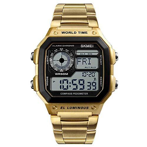 Business Table Leisure Compass Reloj electrónico Reloj multifunción Podómetro Metrónomo