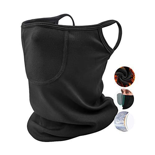 Passamontagna Unisex,Invernale Caldo e Antivento Antipolvere Traspirante, Scaldacollo Usato per Escursionismo,Bici, Sci, Moto, Snowboard(Nero)