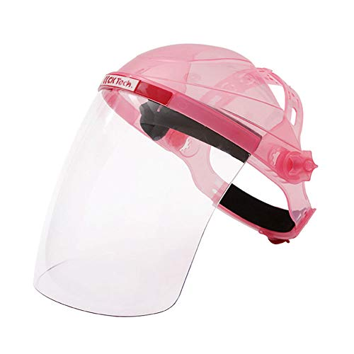 Rauchschutzmaske Schutzmaske Sonnenschutzmaske Schweißmaske transparent Oberfläche Anti-Schock Öldicht Kochmaske, rosa