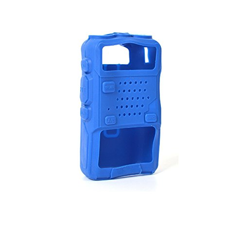 Pufeng Walkie Talkie Protective Cover Rubber Soft Case (Blue) for Baofeng UV-5R UV-5RA UV-5RB UV-5RC UV-5RE