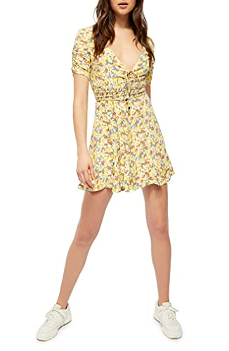 Free People Forget Me Not Floral-Print Mini Dress Ivory Combo 6