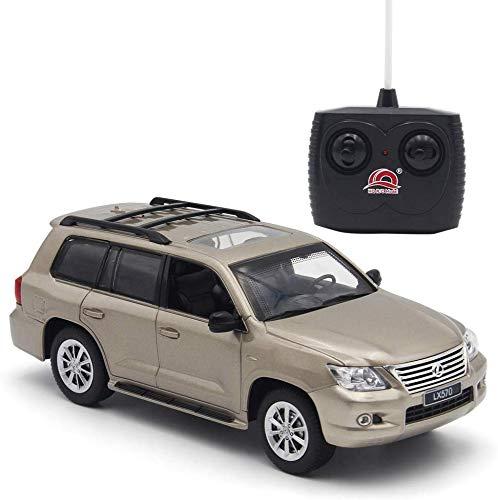 Lovstory Lexus LX570 1/24 Escala Carro de Control Remoto Coche de Modelo Coche eléctrico SUV de Alta Velocidad Coche El Mejor Regalo para niños Niños Niños Adultos para la colección (Marrón)