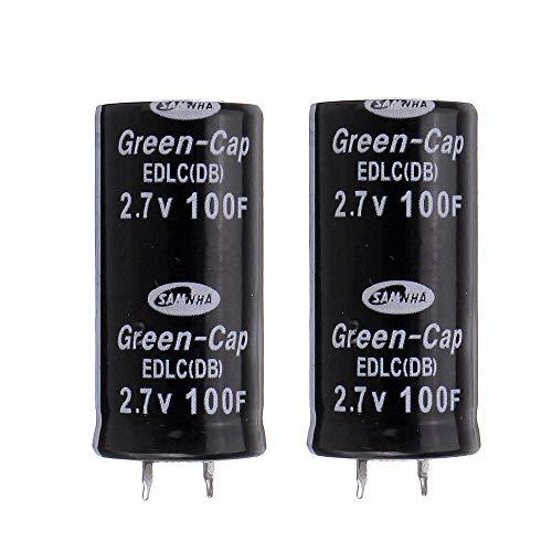 Módulo electrónico Súper condensador 2.7V 100F Ultra El condensador Farad 10pcs Equipo electrónico de alta precisión
