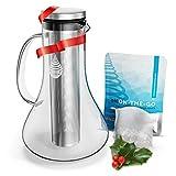 pH REPLENISH - caraffa per filtraggio acqua alcalina - in vetro - con filtro a lunga durata - 1,8 L