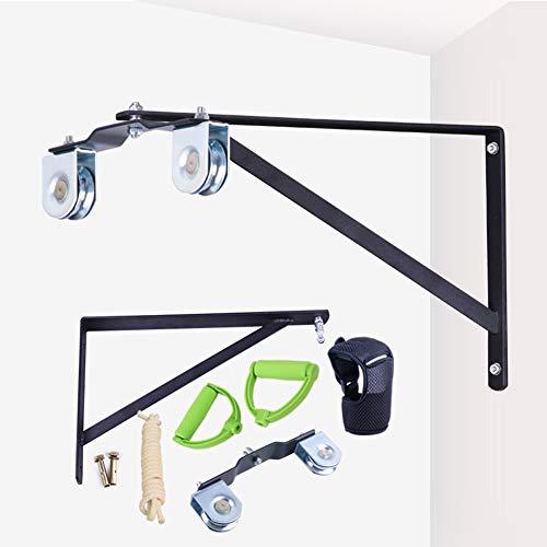 Polea de cuerda montado en la pared,cuerda elástica para rehabilitación de hombro(dos poleas de acero inoxidable)