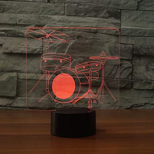 Neon Lights Bar Percusión Musical Lámpara 3D Led 16 Cambios de Color Luces LED 3D Regalo de cumpleaños Navidad