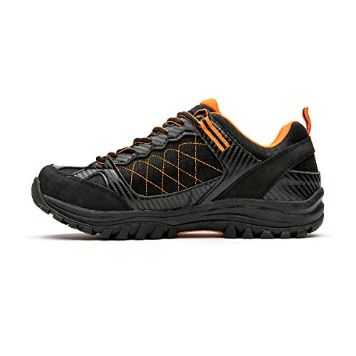Izas NILSEN Zapatillas de Trekking, Hombre, Negro/Naranja, 45