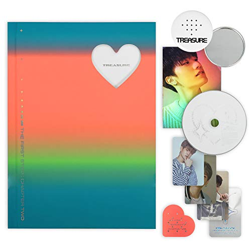 [YG Ent.] TREASURE 2nd Single Album - THE FIRST STEP : CHAPTER TWO [ WHITE ver. ] CD + Photobook + Photocards + Hologram Postcard + Sticker + Bookmark + OFFICIAL POSTER + FREE GIFT