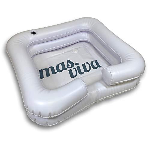Aufblasbares Haarwaschbecken Ablaufschlauch Haare waschen im Bett für Behinderte, ältere, bettlägerige Patienten, Schwangere