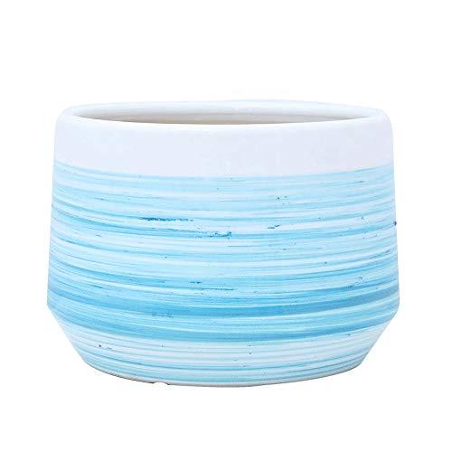 Maceta de cerámica Cubierta de Flores Verde Salvaje, tamaños múltiples Disponibles, jardinería, Maceta, Plantas, Plantas, macetas para Plantas, macetas, macetas para Interiores (Size : Medium)