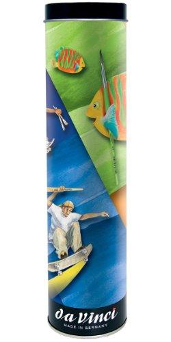 Da Vinci Serie 5410 Fit for School Geschenkdosenpinsel für Jede Art von Farbe, 6-er Set