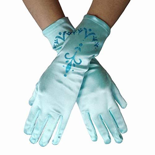 Hihey Girl Gloves Princess Costume Accesorio Princess Glove Cinderella para Niñas Niños Cosplay Disfraz