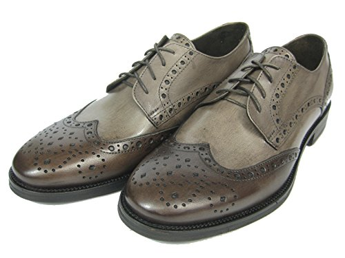 Giorgio Scarpe Giorgio Scarpe Derby Budapester Leder Schuh GM13 Handgenäht Mokka & hell braun
