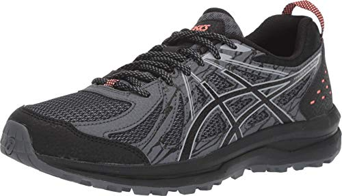 ASICS Women's Frequent Trail Running Shoes, 7.5M, Black/Piedmont Grey
