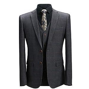 [YFFUSHI] スーツ メンズ スリーピース チェック XS-5XL 6柄 ビジネス