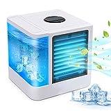 Climatiseurs Portables Refroidisseur D'air Usb Mini-Climatiseur/Humidificateur/Purificateur De Bureau 3-En-1 Avec Réservoir D'eau Indépendant Convient à La Maison Au Bureau Etc