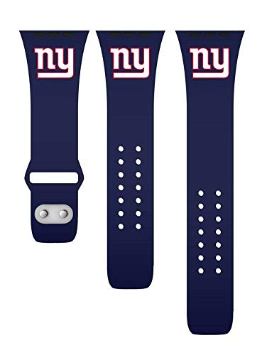 GAME TIME New York Giants Silicone Watch Band Compatible with APPL Smart Watches (42mm/44mm Navy)