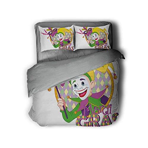 Flyerer Cartoon Jester Mask Three-Piece Anime Character Set Queen bedset Comforter Set