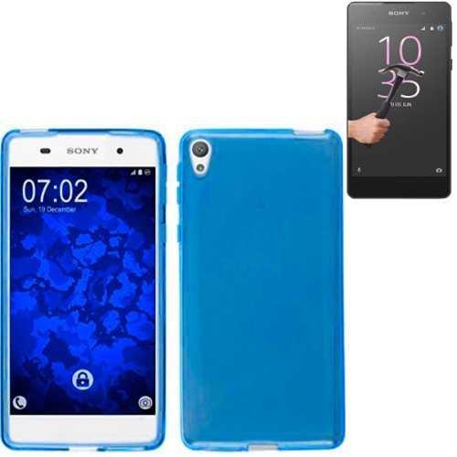 Todobarato24h Funda TPU Lisa Compartible con Sony Xperia XA Ultra Azul + Protector de Cristal Templado