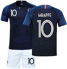 Camiseta y Pantalones Selección Francesa 1ª Equipacion 2018 Jugador Kylian Mbappe Niño