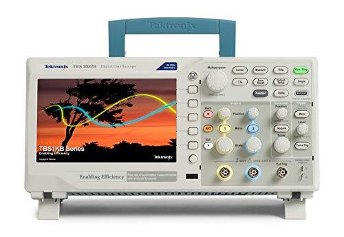 Tektronix TBS1032B - Osciloscopio digital de almacenamiento, ancho de banda de 30 MHz, tasa de muestreo de 500 MS/s, 2 canales, longitud de grabación de 2,5 K