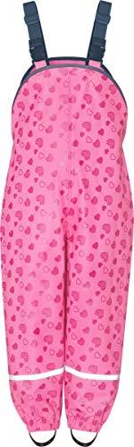 Playshoes Regenlatzhose mit Herzchen Capo d'Abbigliamento, Rosa (Pink 18), 98 Mädchen