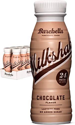 Batido Proteínas Barebells Sabor Chocolate (8 Botellas x 330 ml), Alto Contenido de Proteínas. Sin Azúcares Añadidos y Sin Lactosa, 24 g de Proteínas. Delicioso Sabor Cremoso.