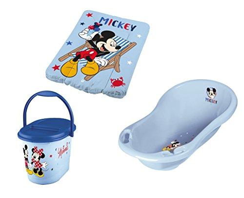 Baby Badewanne + Wickelauflage + Windeleimer Disney Micky Maus N