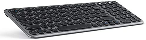 Multi Device Bluetooth Keyboard Jelly Comb Wireless Slim Rechargeable Keyboard with Round Keycaps product image