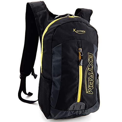 ekavale - Mochila impermeable para bicicleta, deporte, running, senderismo – Mochila extra ligera – Mochila para hombre y mujer (negro y amarillo)