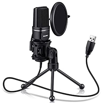 USB Microphone TKGOU Computer Condenser Recording Microphones.for PC,PS4,Laptop,Desktop,Tripod Stand,Pop Filter,Shock Mount for Gaming,Streaming,Podcast,YouTube,Voice Over,Skype,Twitch,Plug&Play Mic