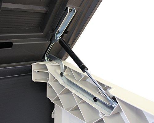 Keter Store It Out Max Gartenbox Mülltonnenbox Gerätebox Schuppen für 2 x 240 Liter Mülltonnen (Beige Braun) - 3