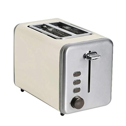 zxcvb Mini Retro Multi-función Toaster750W, 7 Velocidad Hornear Eficiente/Led/Ranura Ancha Boca extraíble miga de Pan Caja, tamaño: 35.6 * 23 * 26cm