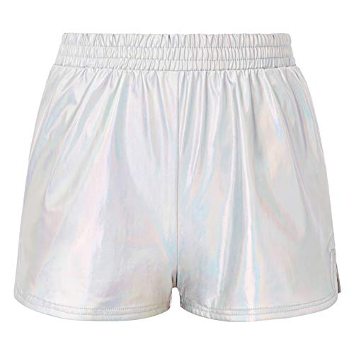 Kate Kasin Festival Wet Look Sport Gym Hotpants Metallic Shorts Shiny Leggings Korte broek Goud