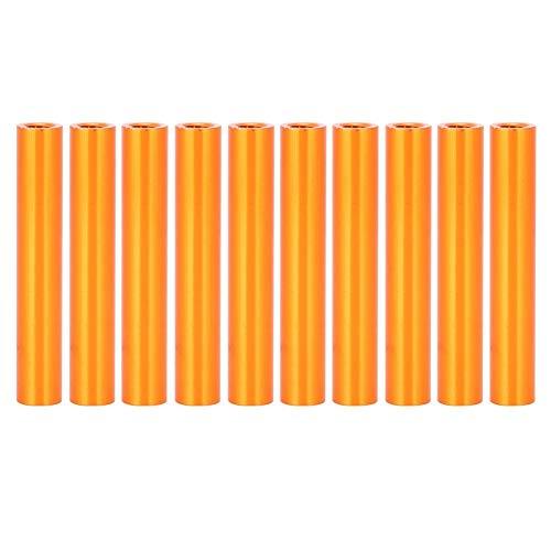 Niady 10pcs M3x30 Ronda de aluminio Standoff Columna espaciador perno sujetador Varillas Naranja