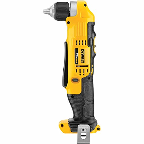 Dewalt DCD740B 20 Volt Max Lithium Ion 3/8in Right Angle Drill/Driver, Tool Only, 3.6in x 4.5in x 9.5in (Renewed)