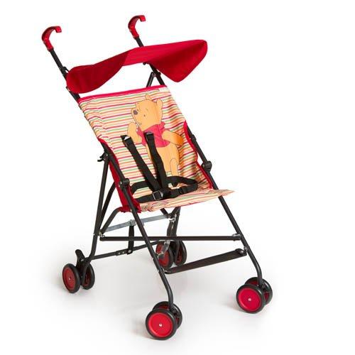 Hauck Sun Plus Disney Buggy, klein zusammenfaltbar, für Kinder ab 6 Monate bis 15 kg, rot (Pooh Spring Brights Red)