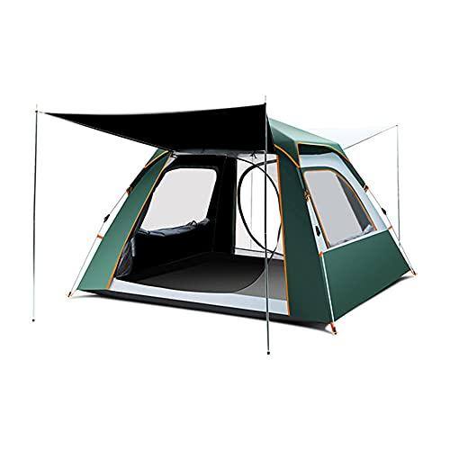 Tienda de campaña al aire libre camping playa 3-4 personas engrosamiento automático lluvia prevención costa protector solar y lluvia