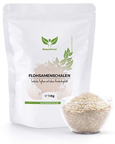 NaturaForte psyllium husk 1000g - Psyllium husk indien végétalien - Riche en fibres et mucilages - Qualité des aliments crus - Cuisson sans gluten - Psyllium Husk 1kg - Superfood Low-Carb