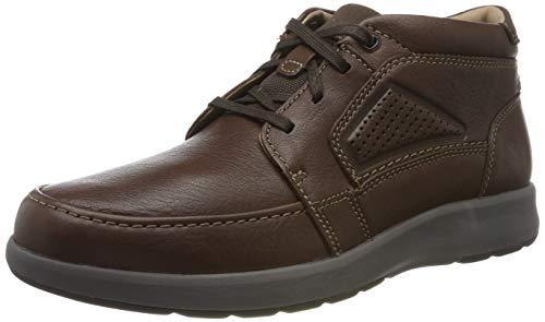 Clarks Un Trail Limit, Zapatos de Cordones Derby para Hombre, Piel de Caoba de Color marrón, 45 EU