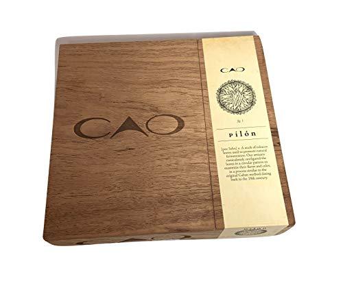 Cigar Zigarrenbox groß Premium Holz leer Koffer für Basteln, Gitarren oder Aufbewahrung Cao Pilon braun