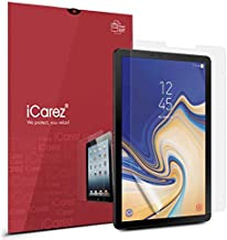 iCarez [Anti-Glare] Matte Screen Protector for Samsung Galaxy Tab S4 10.5 (Not Glass) Premium Easy to Apply with Hinge Installation