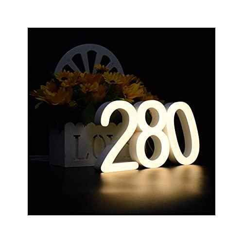 HWNGDI Casa Número de dirección Muestra Número-Digits Big-Mailbox Black Modern Home Fácil de Instalar (Color : Warm White, Size : 300mm 12in)