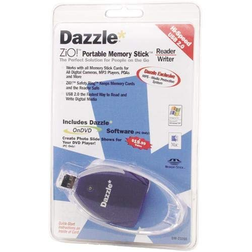 Dazzle Zio. - Hi Speed tragbar Reader/Writer – Lettore di schede (MS) – Hi-Speed USB