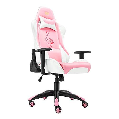 Chaise de Bureau Accueil Chaise d'ordinateur Princesse Rose Chaise Fille Live Seat Étudiant Dortoir Chaise Esports Jeu Chaise Rotation Ascenseur Accoudoir, Donner Aux Filles